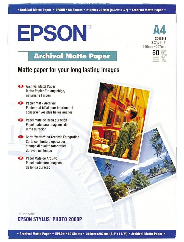 Fotopapír EPSON Archive matte A4 Fotopapír, A4, 189 g/m2, 50 listů C13S041342