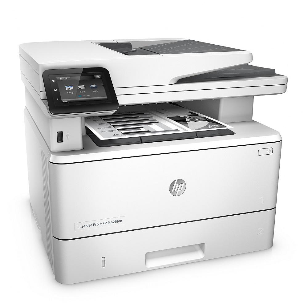 Multifunkční tiskárna HP LaserJet Pro MFP M426fdn Černobílá multifunkční laserová tiskárna, A4, 1200x1200dpi, USB, LAN, Duplex, Fax F6W14A