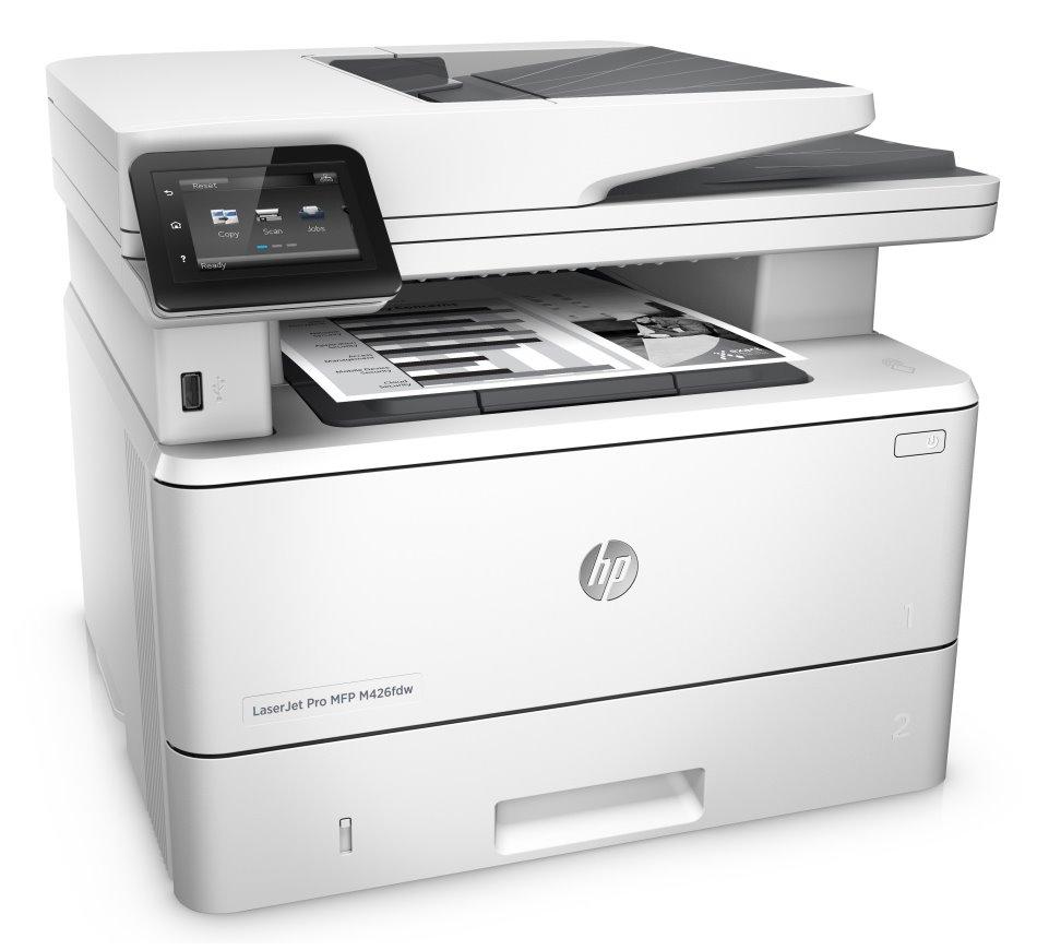 Multifunkční tiskárna HP LaserJet Pro MFP M426fdw Černobílá multifunkční laserová tiskárna, A4, 1200x1200dpi, USB, LAN, Duplex, Wifi, Fax F6W15A