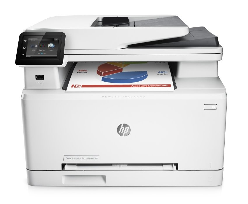 Multifunkční tiskárna HP LaserJet Pro MFP M274n Barevná multifunkční laserová tiskárna, A4,18ppm, 600x600, USB, LAN M6D61A