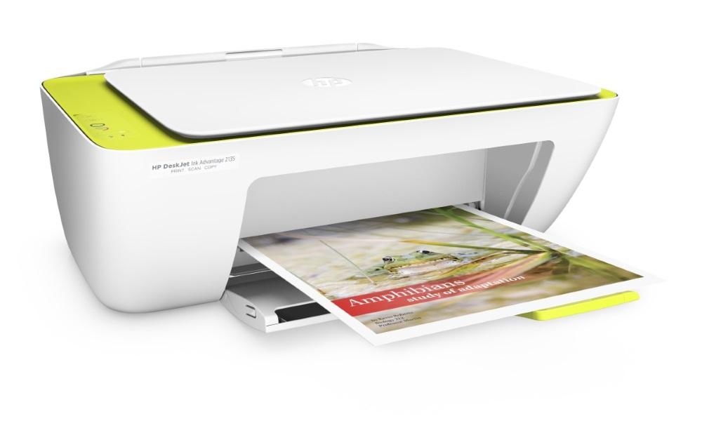 Multifunkční tiskárna HP Deskjet 2135 Barevná multifunkční inkoustová tiskárna, A4, 7,5/5,5ppm, print+scan+copy, USB F5S29C