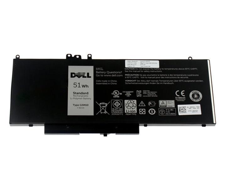 Baterie Dell 51 Wh Baterie, 4-článková, 51 Wh, pro Latitude 3550, E5250, E5450, E5550 451-BBLN