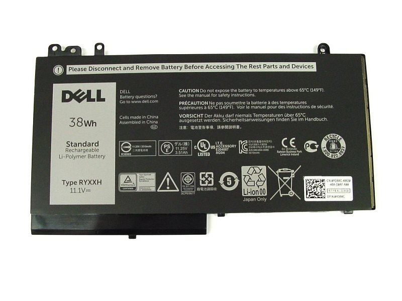 Baterie Dell 38 Wh Baterie, 3-článková, 38 Wh, pro Latitude 3100, 3150, 3160, E5250, E5450, E5550 451-BBLJ