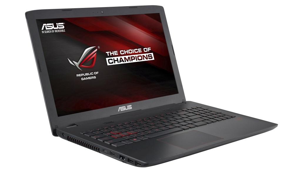 Notebook ASUS ROG G552VW-DM345T Notebook, i5-6300HQ, 8GB, 1TB-5400 + SSD 256GB, 15,6 FHD, DVD-RW, GTX960M 2GB, W10, šedý G552VW-DM345T