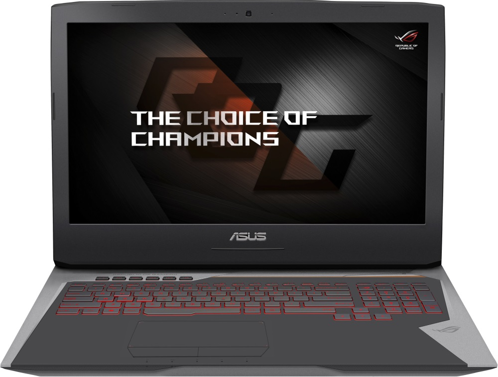 Notebook ASUS Gaming G752VY-GC353T Notebook, herní, i7-6820HK, 32GB, 2x SSD 512GB, 17,3 FHD IPS, Blu-Ray RW, GTX980M 8GB, W10, šedý G752VY-GC353T