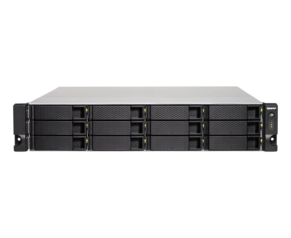 Síťové uložiště NAS QNAP TS-1263U-RP-4G Síťové uložiště NAS, 12-bay, CPU AMD 2,0GHz, 4GB DDR3, 12x SATA 3.5, 2.5 HDD, 2x USB 3.0, 2x USB 2.0, 4x GLAN TS-1263U-RP-4G