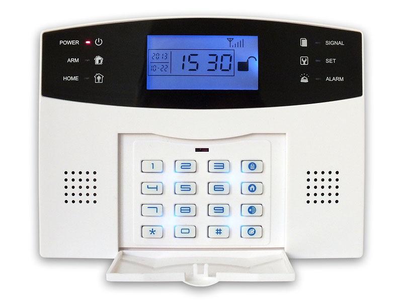 Zabezpečovací systém iGET Security M2B Zabezpečovací systém, domácí alarm, GSM, 1x pohybové čidlo, 1x dveřní čidlo, 3x dálkový ovladač, 1x vnitřní siréna M2B