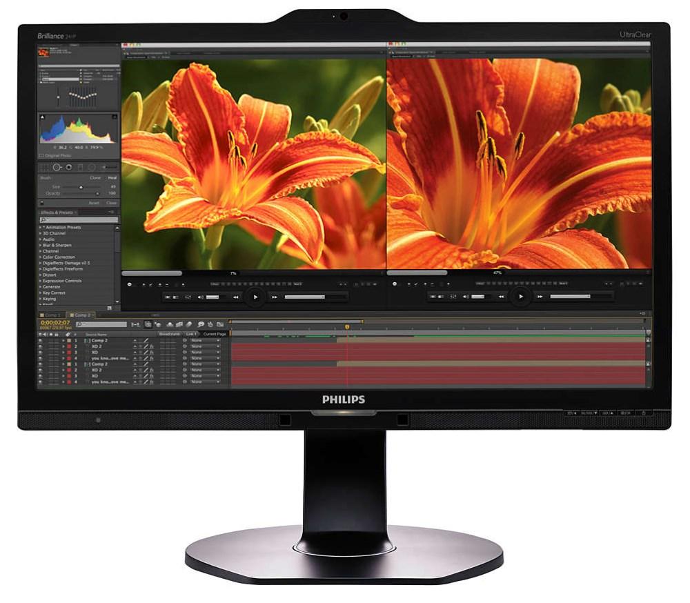 LED monitor PHILIPS 241P6VPJKEB 24 LED monitor, 24, 3840x2160, AH-IPS, 5ms, 300cd/m2, DP, HDMI, DVI, D-SUB, 3x USB, PIVOT, Repro, VESA 100x100 241P6VPJKEB/00