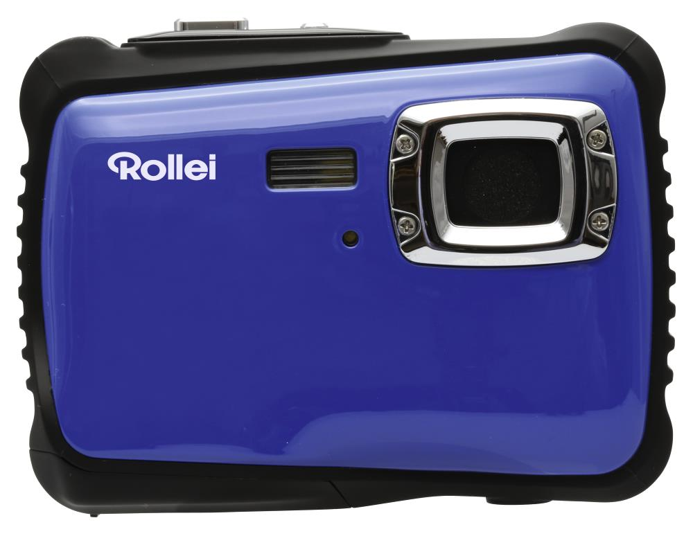 """Digitální fotoaparát Rollei Sportsline 65 modrý Digitální fotoaparát, kompaktní, 5 MPx, 2"""" LCD, Voděodolný do 3 m, HD, brašna zdarma, modro-černý"""