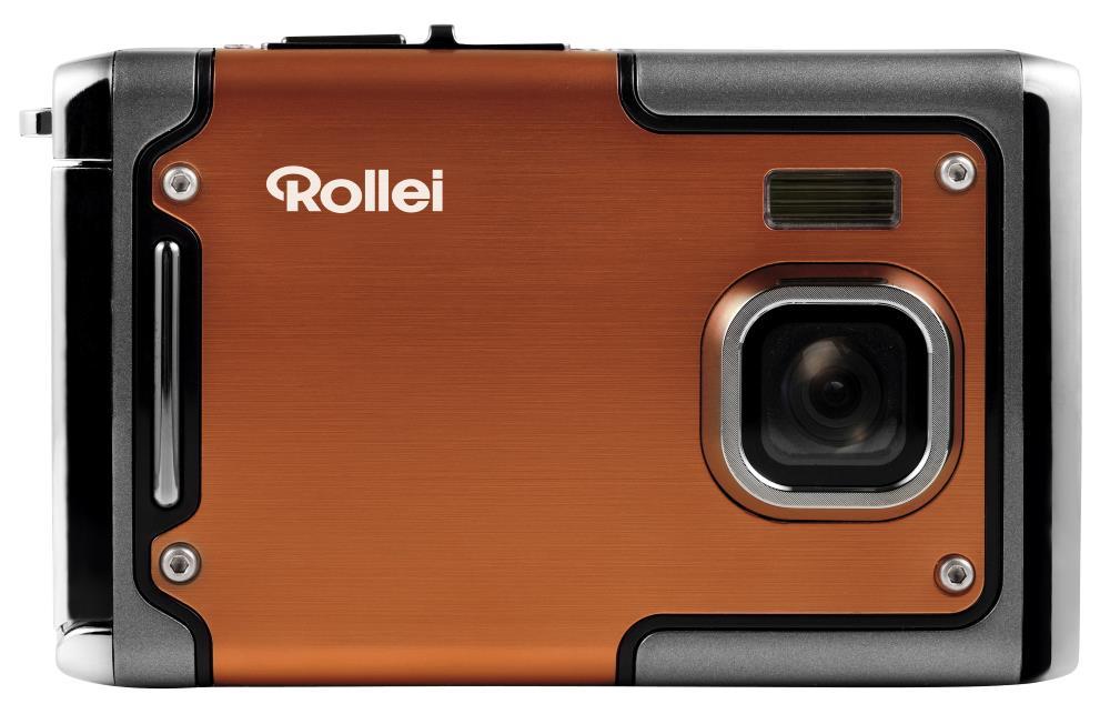 Digitální fotoaparát Rollei Sportsline 85 oranžový Digitální fotoaparát, 8 MPix, 2,4 LCD, voděodolný do 3 m, FULL HD, oranžový 10061