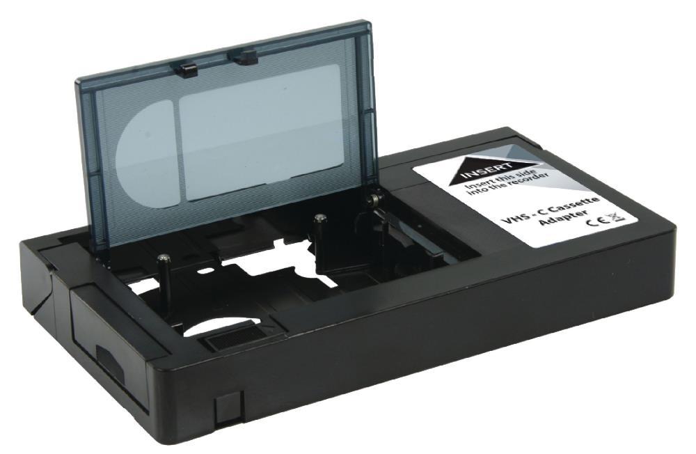 Kazetový adaptér KÖNIG KN-VHS-C-ADAPT Kazetový adaptér, VHS-C, černý KN-VHS-C-ADAPT