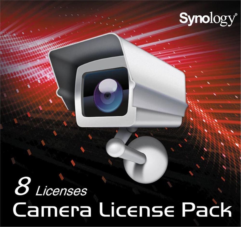 Licence Synology Camera License Pack x 8 Licence, pro software Surveillance Station, pro 8 kamer IPC8