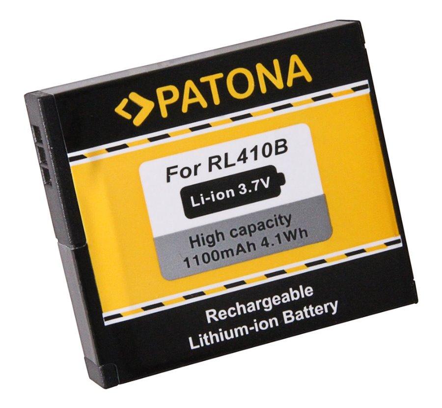 Baterie PATONA PT1245 Baterie, pro kameru Rollei Actioncam 230, 400, 1100 mAh, Li-Ion PT1245