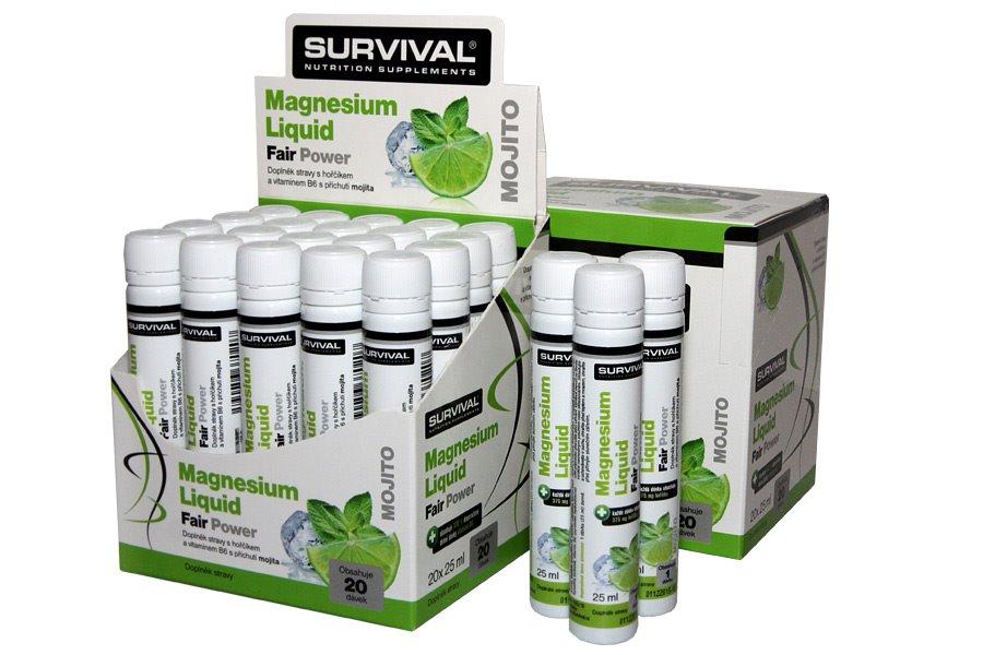 Doplněk stravy SURVIVAL Magnesium 20x25 ml Doplněk stravy, mojito, 20x25 ml 8594056370191
