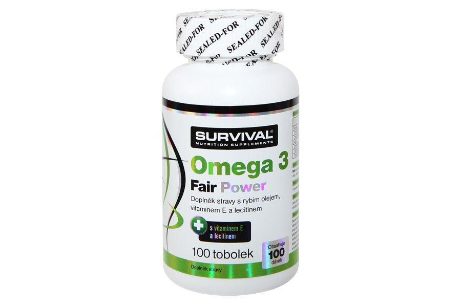 Doplněk stravy SURVIVAL Omega 3 Fair Power 100 cps Doplněk stravy, 100 cps 8594056370078