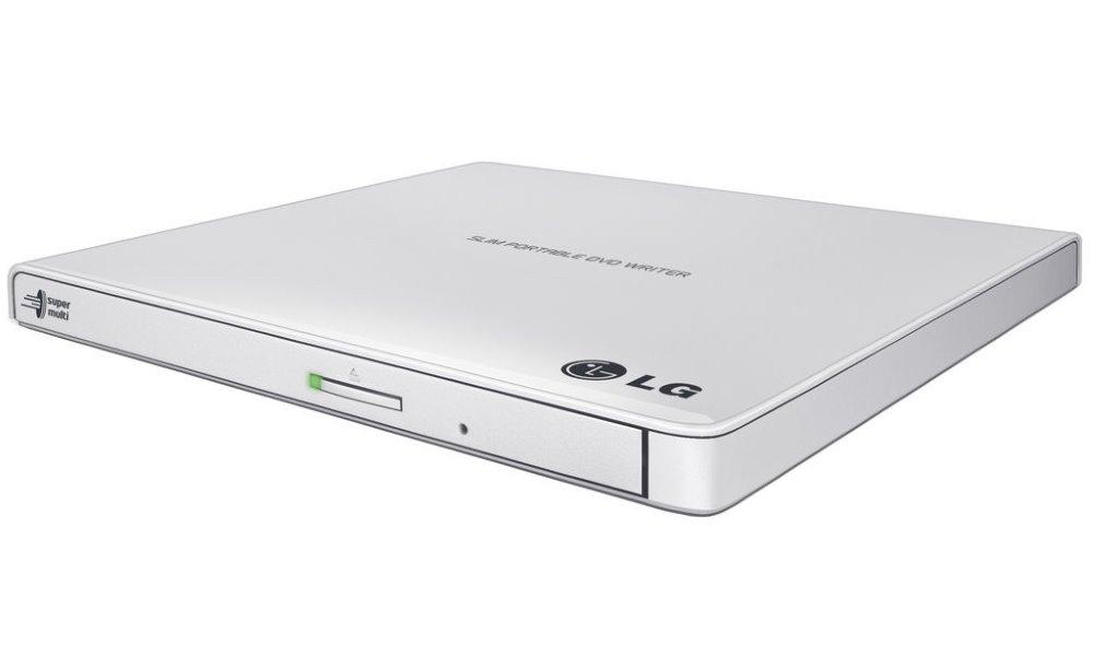 DVD mechanika LG GP57 DVD mechanika, externí, 8 x USB, m-disc, slim, bílá GP57EW40.AUAE10B