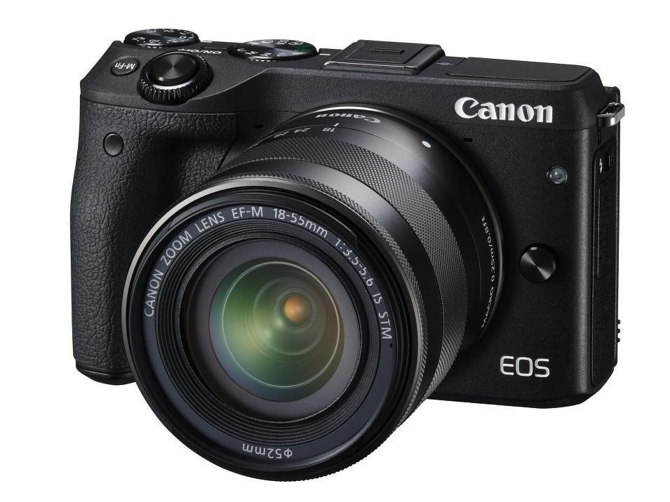 Digitální fotoaparát Canon EOS M3 + EF-M 18-55 mm Digitální fotoaparát, 24,2 MPx, černý + objektiv EF-M 18-55 mm IS STM 9694B063