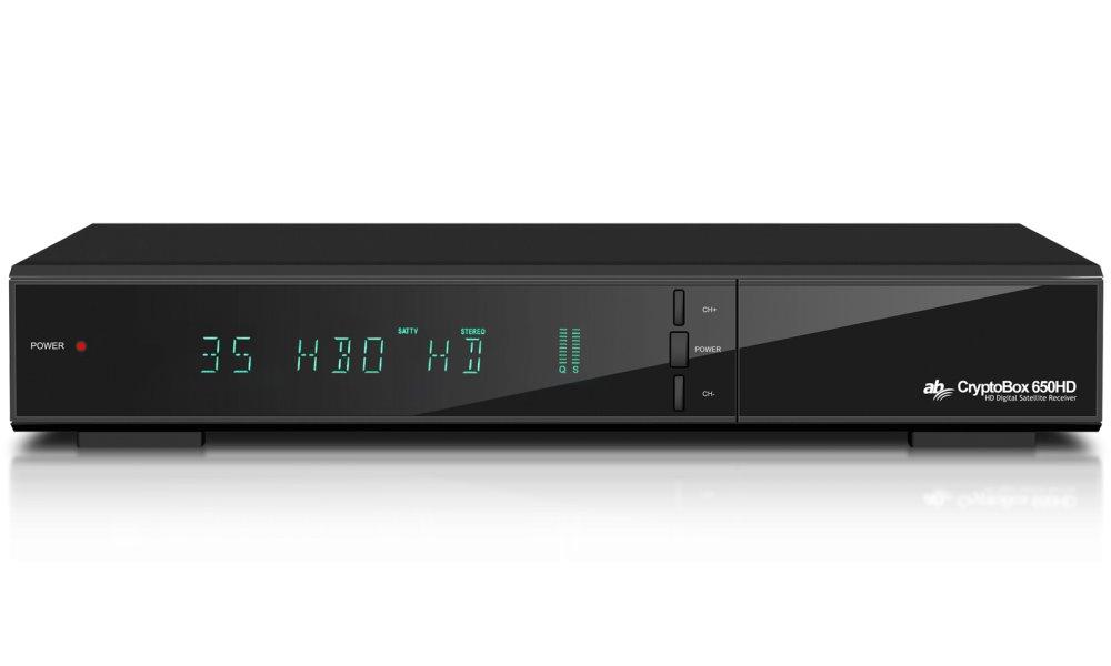 Satelitní přijímač AB Cryptobox 650HD Satelitní přijímač, DVB-S2, Full HD, čtečka karet, 2x USB, HDMI, SCART, LAN, PVR, RS232, CI+, TimeShift, Android DBSABHC011