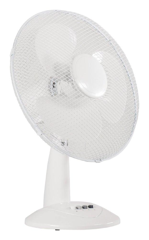 Ventilátor VALUELINE VL-FN16 40 cm Ventilátor, stolní, 40 cm, bílý, 3 rychlosti, funkce oscilace