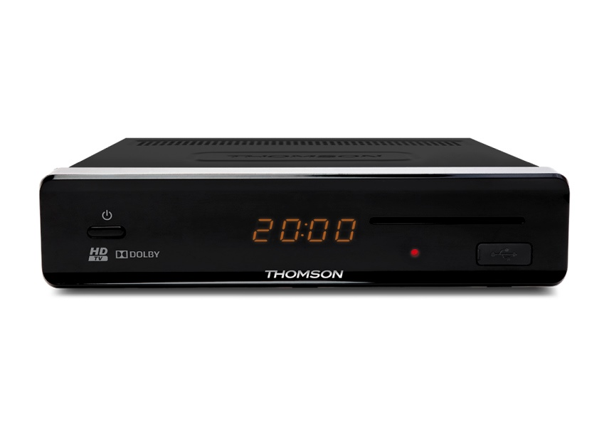 Satelitní přijímač THOMSON THS 813 Satelitní přijímač, Full HD, čtečka karet, USB, HDMI, SCART, S,PDIF, Timeshift, Fastscan, napájení 12 V SRTHS813