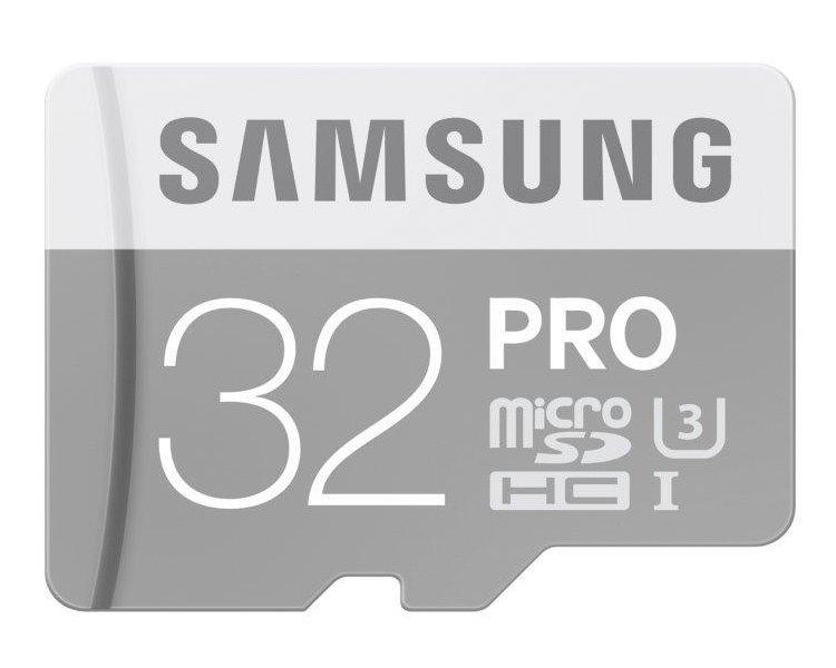 Paměťová karta SAMSUNG PRO Micro SDHC 32 GB Paměťová karta, 32 GB, Micro SDHC, třída 10, bez adaptéru MB-MG32E/EU