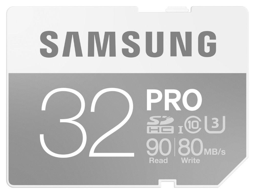 Paměťová karta SAMSUNG PRO SDHC 32 GB Paměťová karta, 32 GB, SDHC, třída 10, bez adaptéru MB-SG32E/EU