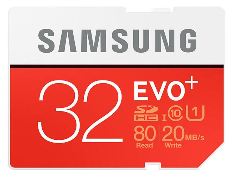 Paměťová karta SAMSUNG EVO+ SDHC 32 GB Paměťová karta, 32 GB, SDHC, třída 10, bez adaptéru MB-SC32D/EU
