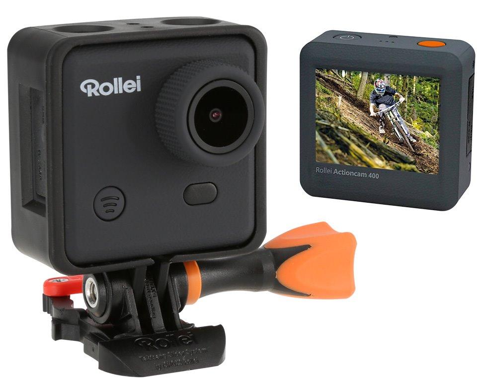 Kamera Rollei ActionCam 400 Kamera, outdoor, FULL HD video 1080/30 fps, 150, 40m pzd., Wi-Fi, dálkové ovládání., černá - POUŽITÉ KAMR03004V