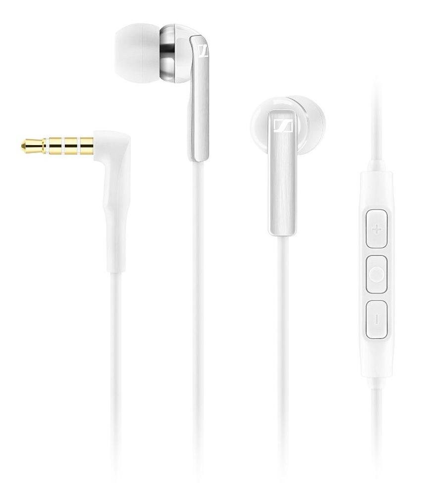 Headset SENNHEISER CX 2.00i Headset, do uší, 3,5 mm jack, citlivost 119 dB/mW, pro Apple, bílý 506093