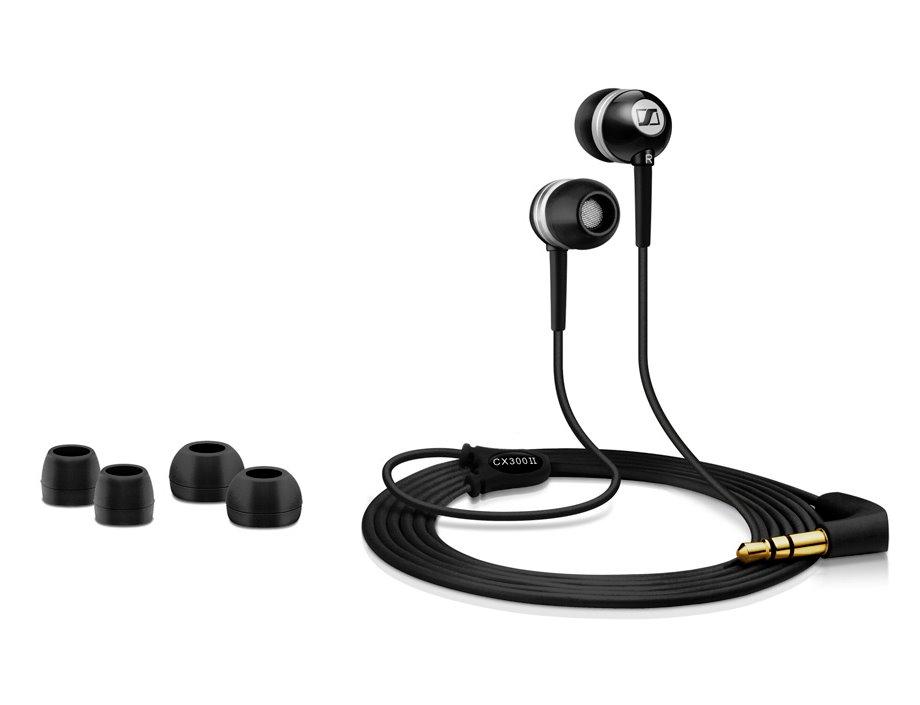 Sluchátka SENNHEISER CX 300-II Sluchátka, do uší, 3,5 mm jack, citlivost 113 dB/mW, černá 502737