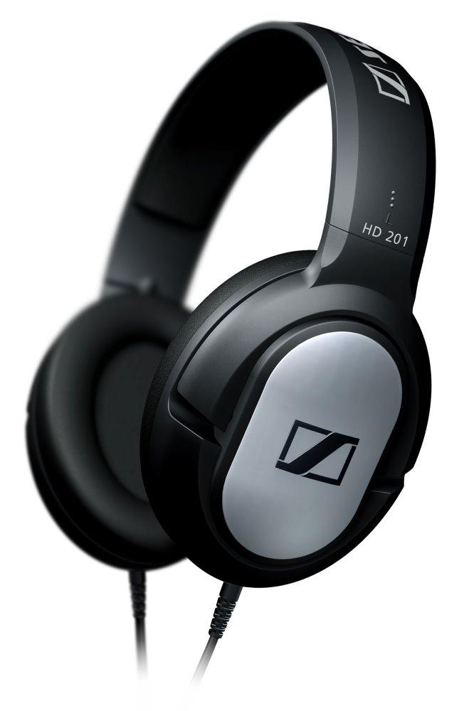 Sluchátka SENNHEISER HD 201 Sluchátka, náhlavní, 3,5 mm jack, citlivost 108 dB/mW, černá 500155