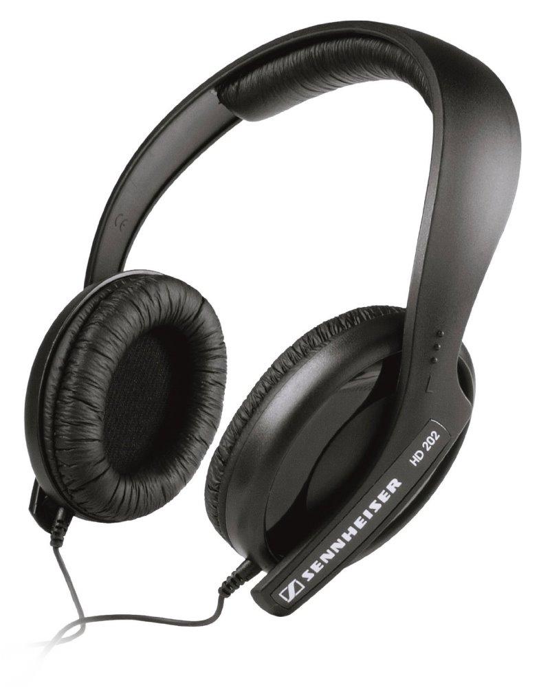 Sluchátka SENNHEISER HD 202 II Sluchátka, náhlavní, 3,5 mm jack, citlivost 115 dB/mW, černá 504291