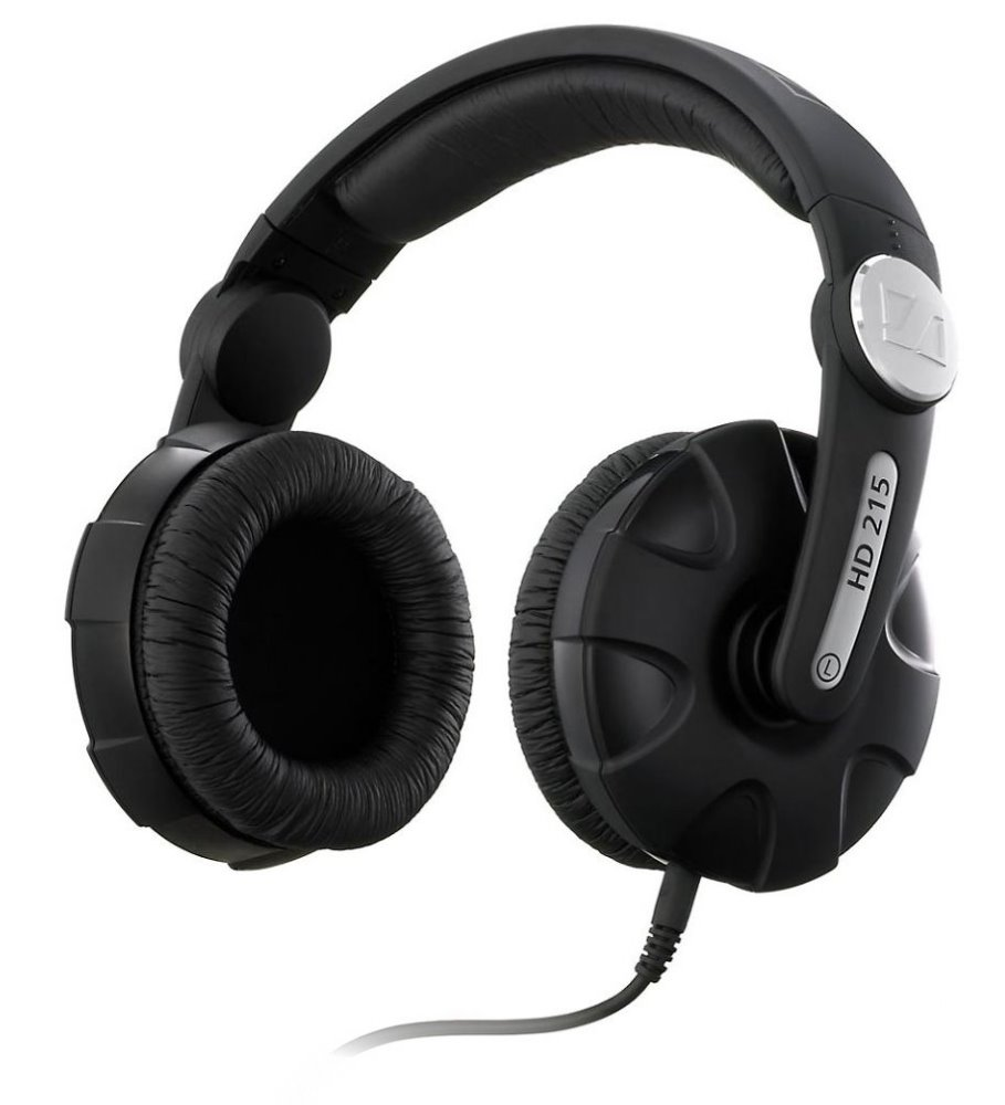 Sluchátka SENNHEISER HD 215 II Sluchátka, náhlavní, 3,5 mm jack, citlivost 112 dB/mW, černá 504293