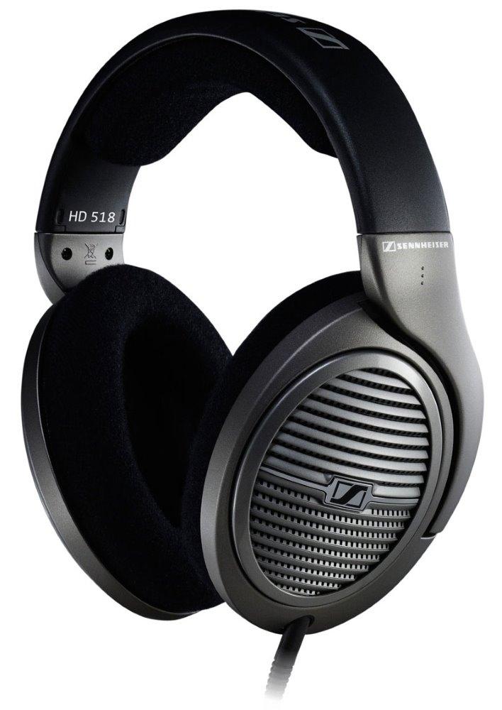 Sluchátka SENNHEISER HD 518 Sluchátka, náhlavní, 3,5 mm jack, citlivost 108 dB/mW, černá 504628