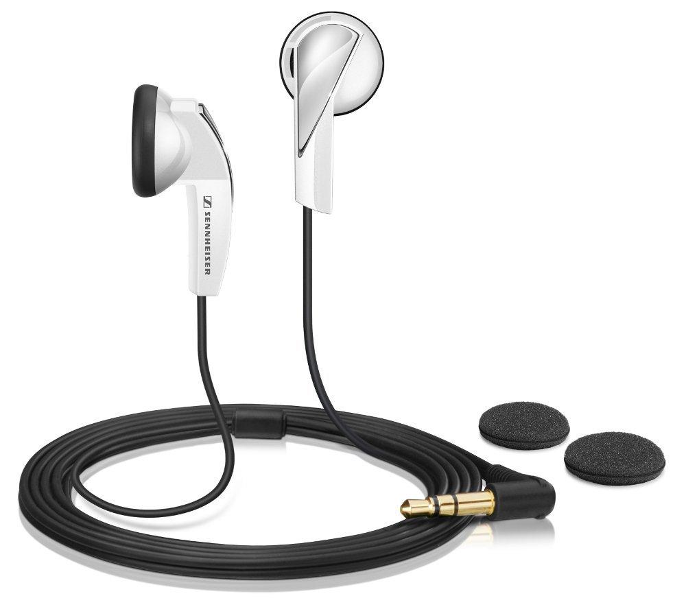 Sluchátka SENNHEISER MX 365 Sluchátka, do uší, 3,5 mm jack, citlivost 110 dB/mW, bílá 505434