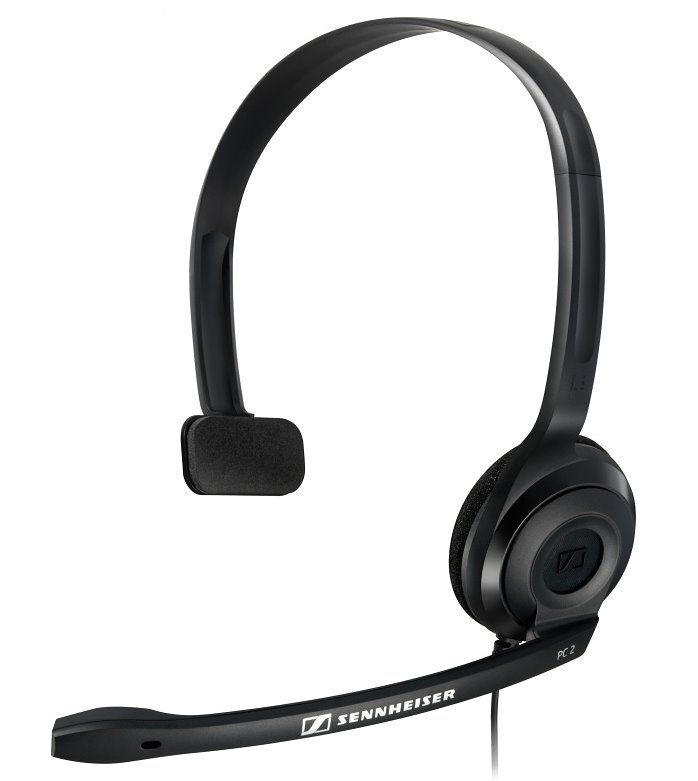 Headset SENNHEISER PC 2 CHAT Headset, náhlavní, 2 x 3,5 mm jack, citlivost 95 dB/mW, černý 504194
