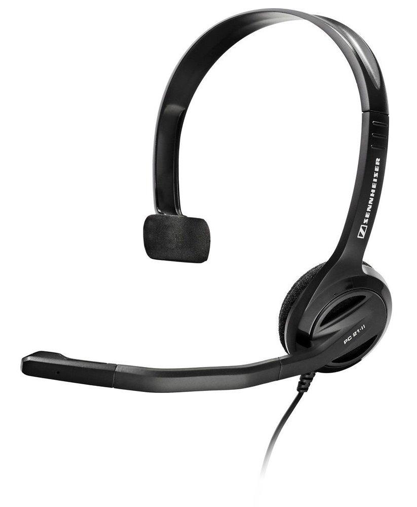 Headset SENNHEISER PC 21-II Headset, náhlavní, 2 x 3,5 mm jack, citlivost 109 dB/mW, černý 504520
