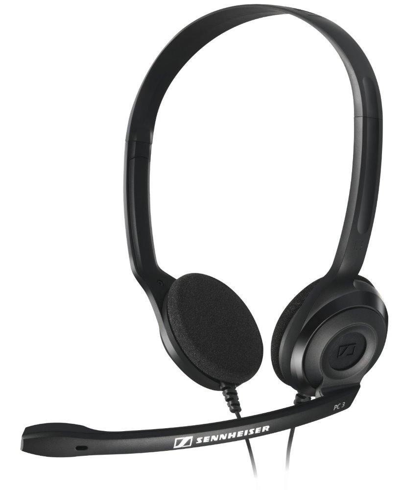 Headset SENNHEISER PC 3 CHAT Headset, náhlavní, 2 x 3,5 mm jack, citlivost 95 dB/mW, černý 504195