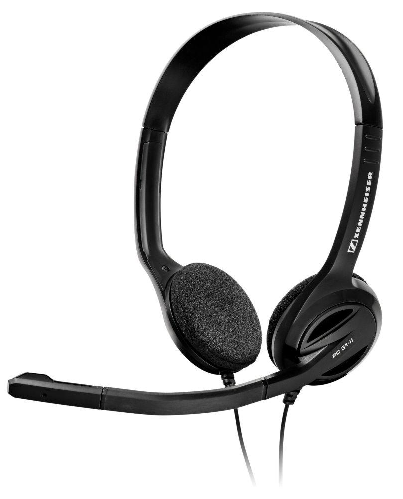 Headset SENNHEISER PC 31 II Headset, náhlavní, 2 x 3,5 mm jack, citlivost 109 dB/mW, černý 504522
