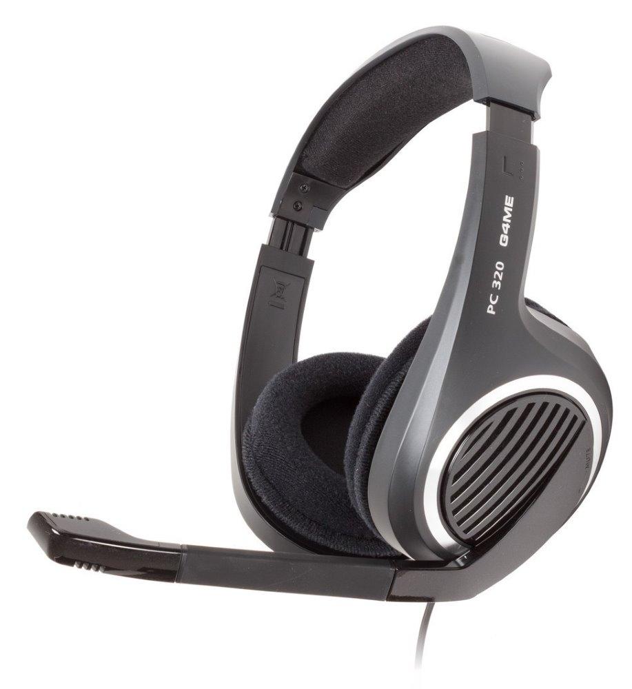 Headset SENNHEISER PC 320 Headset, náhlavní, 2 x 3,5 mm jack, citlivost 113 dB/mW, černý 504120