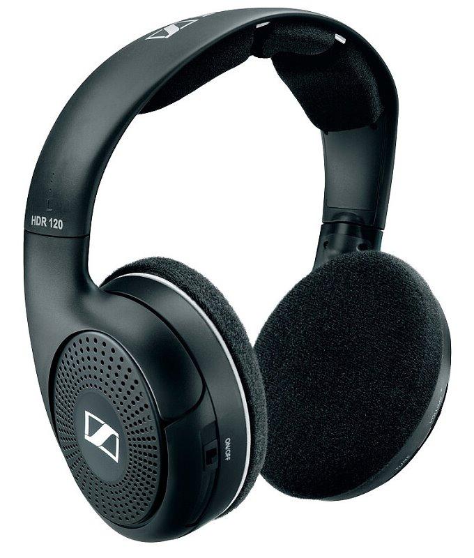 Sluchátka SENNHEISER RS 120 II Sluchátka, náhlavní, bezdrátová, citlivost 106 dB/mW, černá 009920