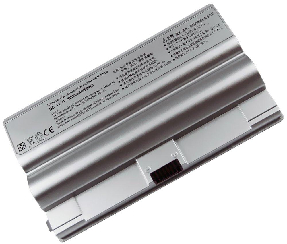Baterie TRX pro Sony Vaio VGN-FZ 5200 mAh Baterie, 5200 mAh, pro notebooky Sony Vaio VGN-FZ série, nahrazuje VGP-BPS8, BPL8, VGP-BPS8, VGP-BPS8A, VGP-BPS8B, VGP-BPL8, neoriginální TRX-VGP-BPS8