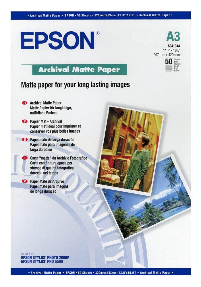 Fotopapír EPSON Archival Matte Paper 50ks Fotopapír, A3, Archival Matte Paper, 50ks C13S041344
