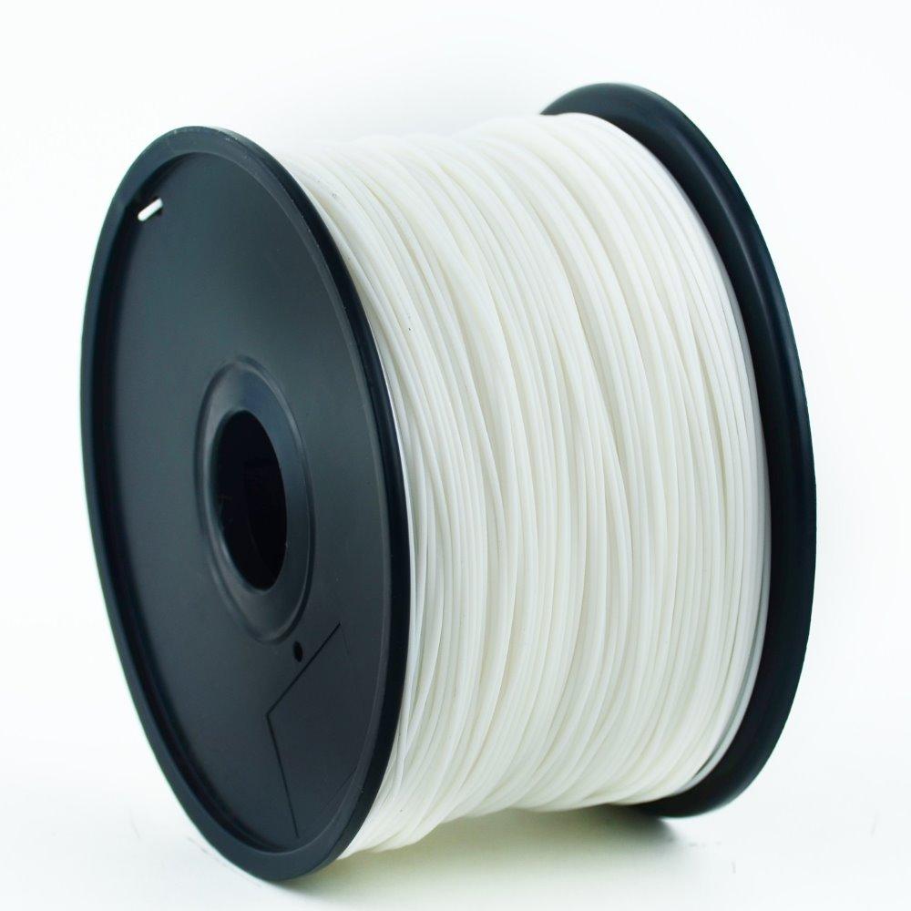 Plastické vlákno Gembird ABS 1,75 mm bílé Plastické vlákno, pro 3D tisk, průměr 1,75 mm, hmotnost materiálu 1 kg, bílé 3DP-ABS1.75-01-W