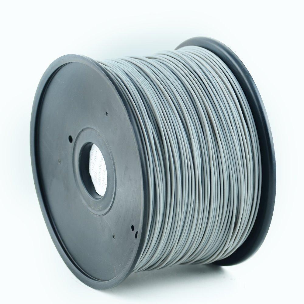 Plastické vlákno Gembird PLA 1,75mm šedé Plastické vlákno, pro 3D tisk, průměr 1,75mm, hmotnost materiálu 1kg, šedé
