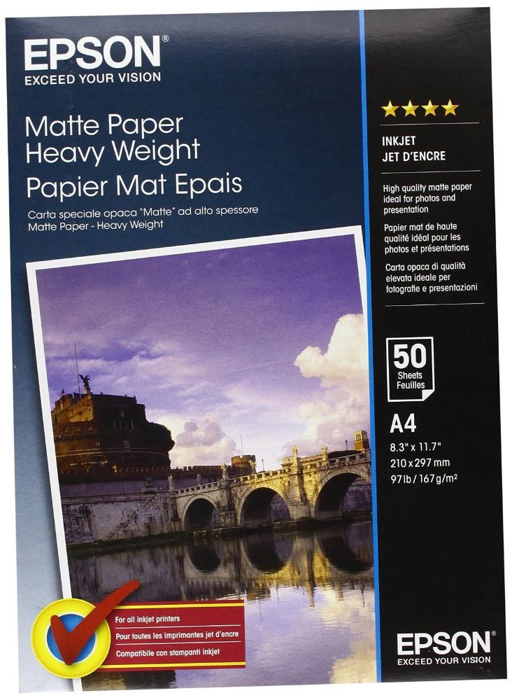 Fotopapír EPSON Matte Heavy Weigh A4 50 ks Fotopapír, A4, 167 g/m2, 50 listů C13S041256