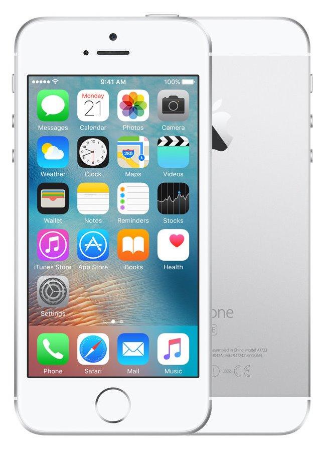 Mobilní telefon Apple iPhone SE 16 GB Silver Mobilní telefon, dotykový, 4, 16 GB, stříbrný MLLP2CS/A