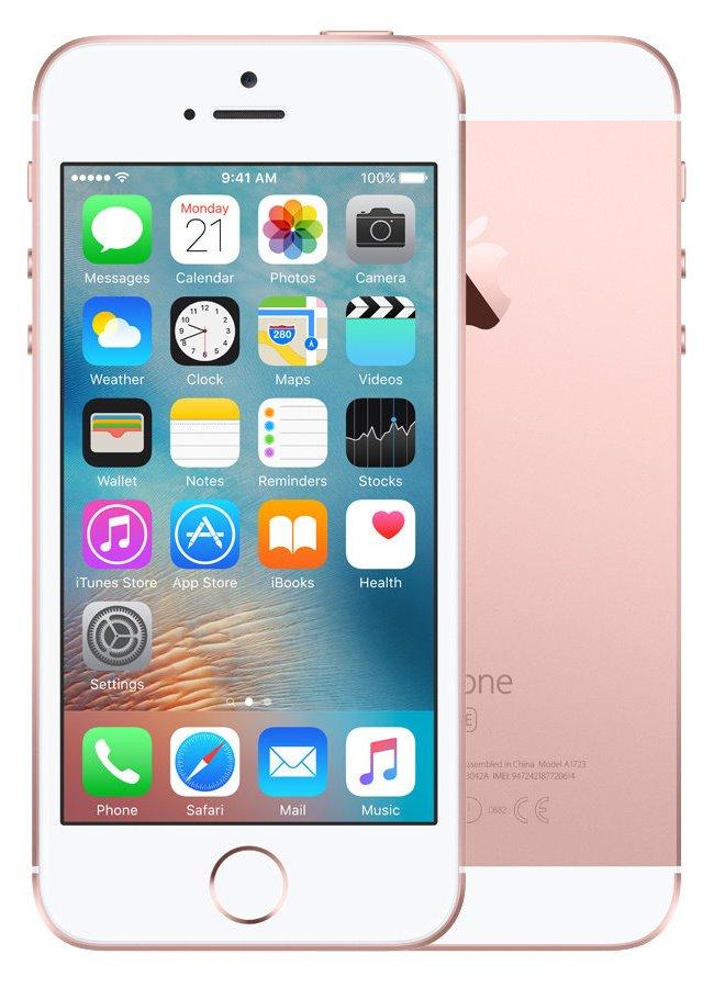 Mobilní telefon Apple iPhone SE 16 GB Rose Gold Mobilní telefon, dotykový, 4, 16 GB, růžově zlatý MLXN2CS/A