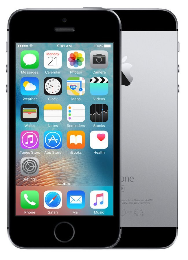Mobilní telefon Apple iPhone SE 64 GB Space Grey Mobilní telefon, dotykový, 4, 64 GB, vesmírně šedý MLM62CS/A