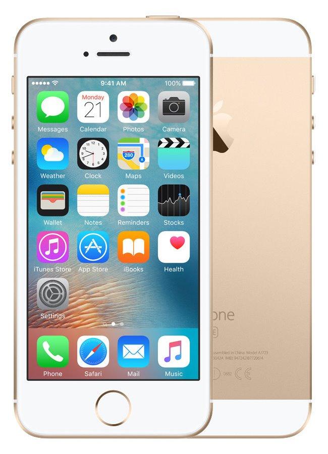 Mobilní telefon Apple iPhone SE 64 GB Gold Mobilní telefon, dotykový, 4, 64 GB, zlatý MLXP2CS/A
